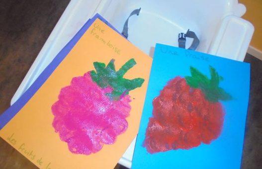 Petit aperçu des peintures des enfants sur le thème des frui…